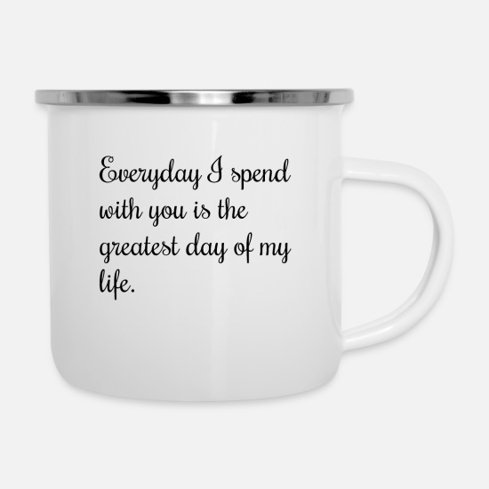 Love Mugs & Drinkware - love quotes uk - Enamel Mug white