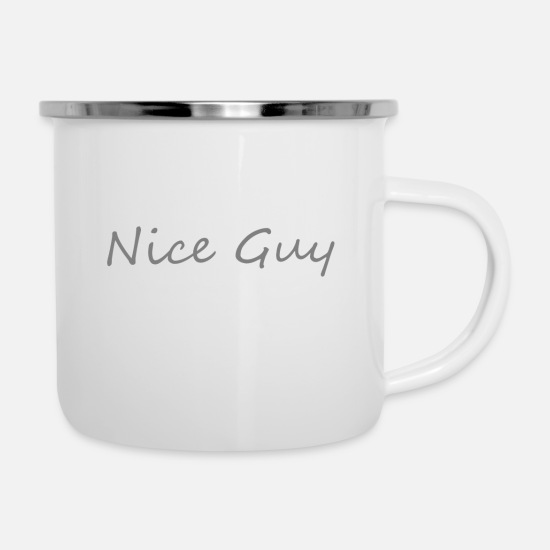 Nice Mugs & Drinkware - Nice guy - Enamel Mug white