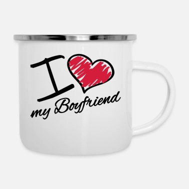 My Heart i_love_my_boyfriend_da2 - Enamel Mug