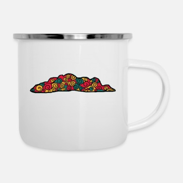 Autumn Colorful cloud - Enamel Mug