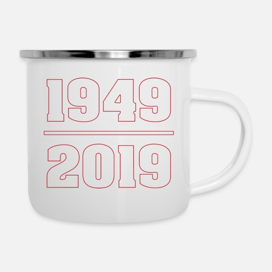 70th Birthday Mugs & Drinkware - 70th Birthday Years Gift Birthday Honor Day - Enamel Mug white