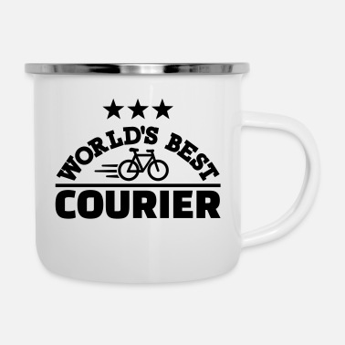 Courier World's best bike courier - Enamel Mug
