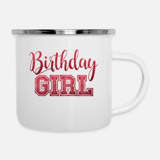 Birthday Mugs & Drinkware - BIRTHDAY COLLECTION - Enamel Mug white