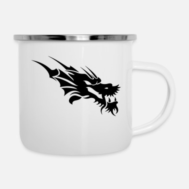 China dragon tattoo - Enamel Mug