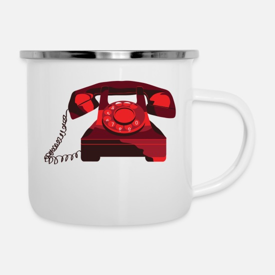 Gift Idea Mugs & Drinkware - phone - Enamel Mug white