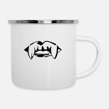 Fang Fangs - Emaille-Tasse