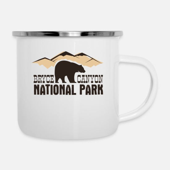 Park Mugs & Drinkware - Bryce Canyon National Park - Enamel Mug white
