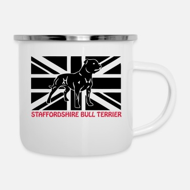 Macho stafford © - www.dog-power.nl - Emaille-Tasse