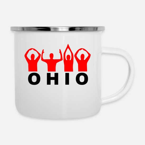 Ohio Mugs & Drinkware - Ohio USA - Enamel Mug white