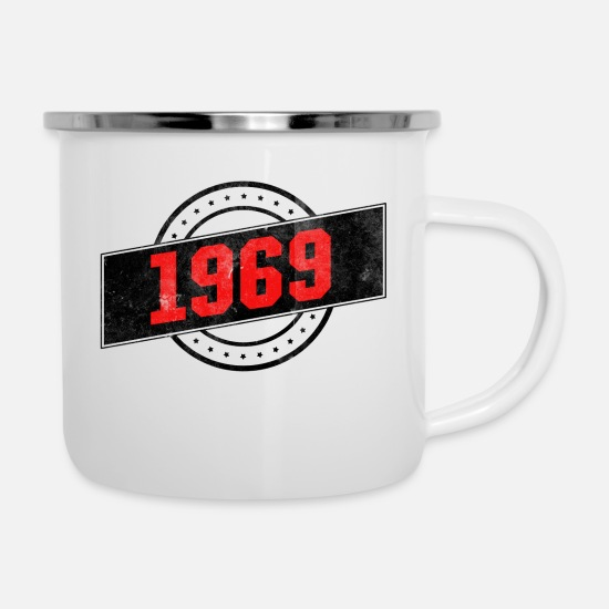 Birthday Mugs & Drinkware - 1969 year of birth - Enamel Mug white