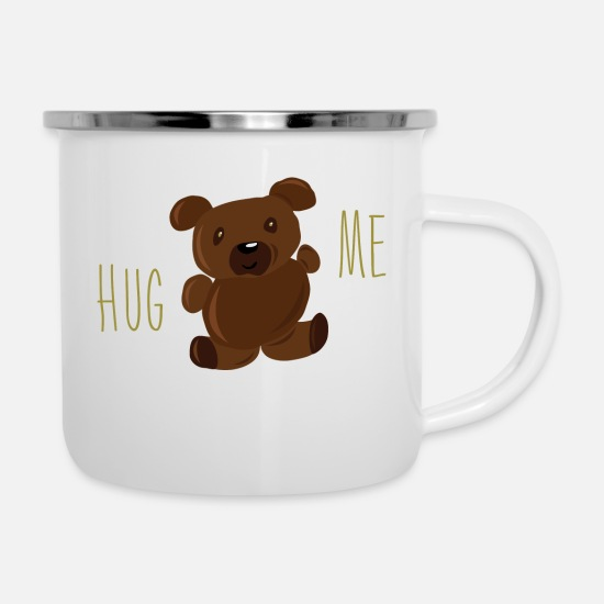 Teddy Bear Mugs & Drinkware - Hug me - Enamel Mug white