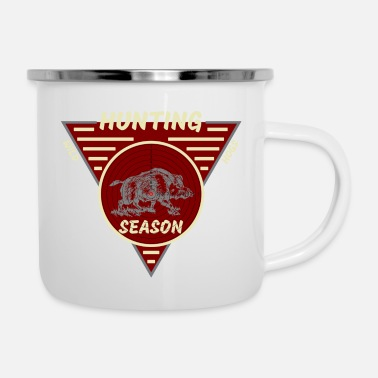 Hog Hunting Season Wild Hogs - Enamel Mug