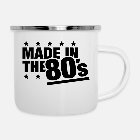 Party Mokken & toebehoor - made_in_the_80s_f1 - Emaille mok wit