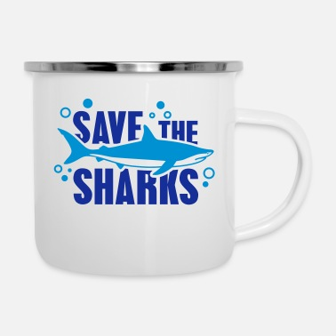 Zee save_the_sharks_1_f2 - Emaille mok