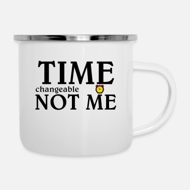 Time Time - Emaille-Tasse