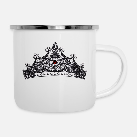 Royal Mugs & Drinkware - CROWN - Enamel Mug white