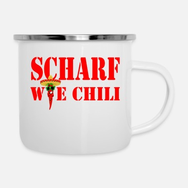 Sharp sharp as chili - Enamel Mug