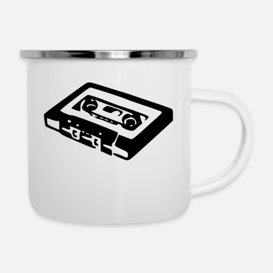 Audio Mugs & Drinkware - Audio Cassette - Enamel Mug white