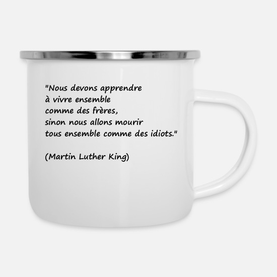 President Mugs & Drinkware - Quote man - Enamel Mug white