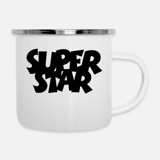 Actress Mugs & Drinkware - SUPERSTAR - Enamel Mug white