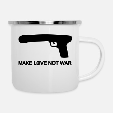 Satire make love not war - Mug émaillé