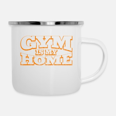Squat Gym is mijn Home Gym Training Spotler - Emaille mok