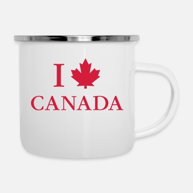 Canada I love Canada maple leaf red North America adventure - Enamel Mug