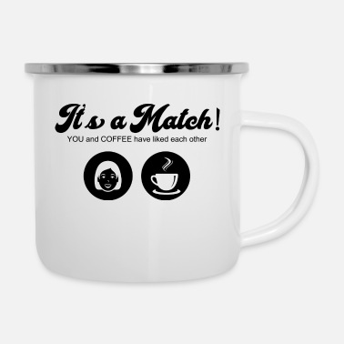 Tinder Coffee Match Tinder Love Dating - Emaille-Tasse