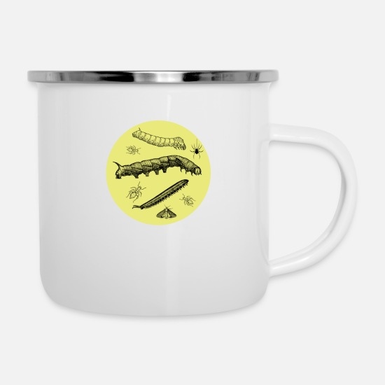 Ant Mugs & Drinkware - insect yellow - Enamel Mug white