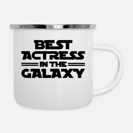 Movie Mugs & Drinkware - actress best in the galaxy copy - Enamel Mug white