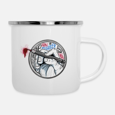Miscellaneous Pen Is Mightier - Enamel Mug
