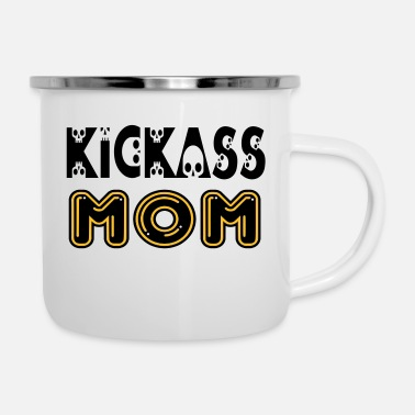 Show ㋛❤KickAss Mom-Coolest Mom in the World❤☠ - Enamel Mug