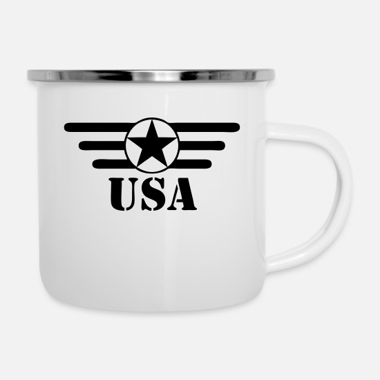 Usa Mugs & Drinkware - usa - Enamel Mug white