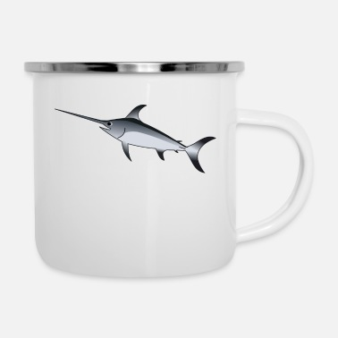 Pikeperch fish535 - Enamel Mug