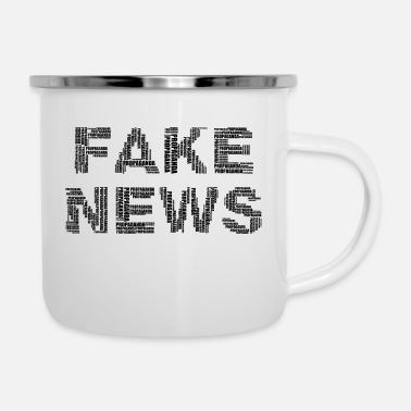 Propaganda FAKE NEWS (corruption / propaganda) - Enamel Mug