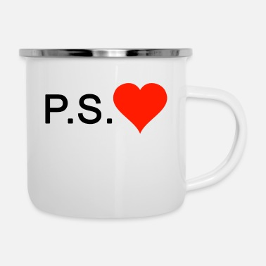 Ps PS Love love heart - Tazza smaltata