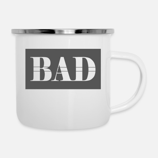 Bad Manners Mugs & Drinkware - Bad - Enamel Mug white