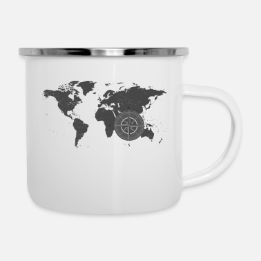 Map with compass 2 - Enamel Mug