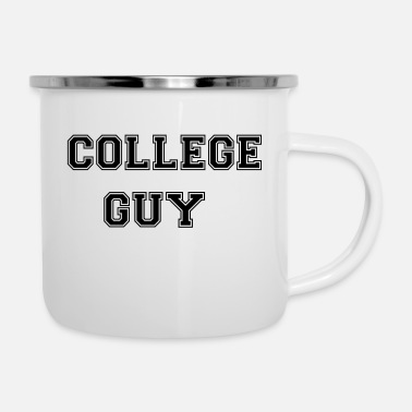 College College Guy - Hours - College - Enamel Mug