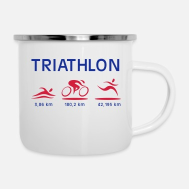 Triatlon triatlon - Tazza smaltata