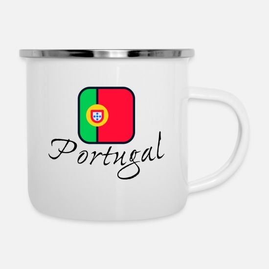 Flag Mugs & Drinkware - Portugal - Enamel Mug white