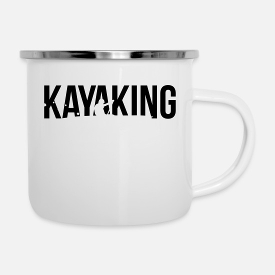 Kayaking Mugs & Drinkware - kayaking - Enamel Mug white