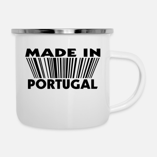 Portugal Tassen & Becher - Made in portugal 3D code - Emaille-Tasse Weiß