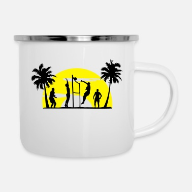 Beach Volleyball beach volleyball, volleyball - Enamel Mug