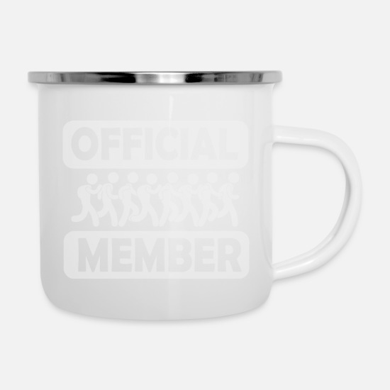 Triathlet Mugs & Drinkware - Marathon Team Member - Enamel Mug white