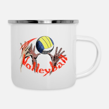 Volley volleyball - Emaille mok