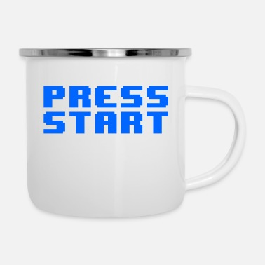 Start Press Start - Tazza smaltata