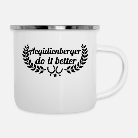 Horse Mugs & Drinkware - Aegidienberger - Enamel Mug white