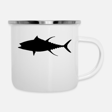 Pikeperch fish537 - Enamel Mug