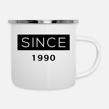 Since Since - 1990 - Emaille-Tasse